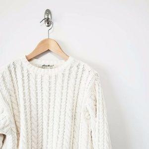 Vintage Eddie Bauer Cotton Cable Knit Sweater